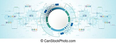 Technology background innovation. - Vector abstract...