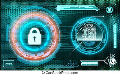 Technology background. Storage and protection of information. St