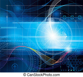 Technology Background - Vector composition abstract...