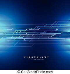 technology background with abstract lines