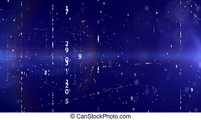 Technology background with binary code.