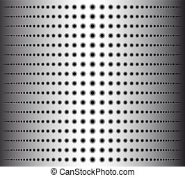 Technology background with circle perforated metal grill texture for internet sites, web user interfaces.