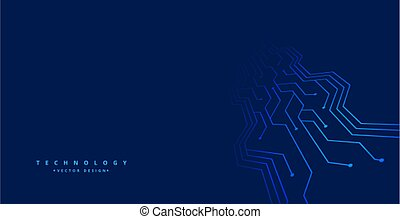 technology background with circuit board lines design