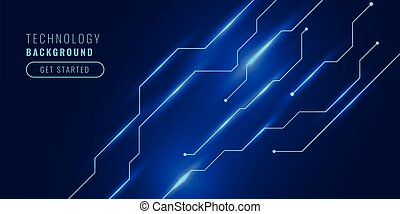 technology background with circuit lines diagram design