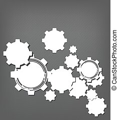 Technology background with gear wheel, web user interfaces...