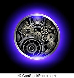 Technology background with gears.