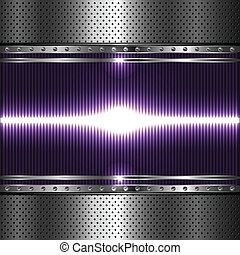 Technology background with perforat