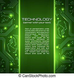 Technology background with space for your text.
