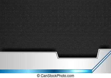technology banner metal, blue, black, illustration