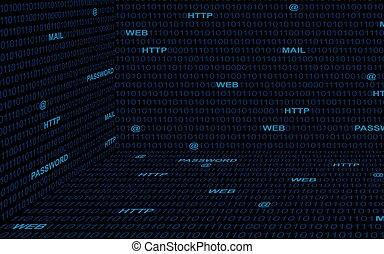 Technology binary code background