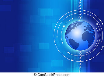 Technology Business Blue Background