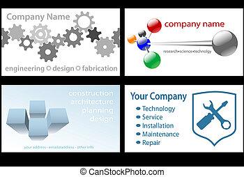Technology Business Card Designs 4 Up