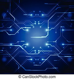 technology circuit board vector background, illustration