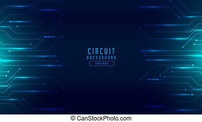 technology circuit diagram digital futuristic background design