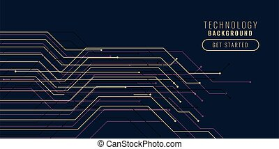 technology circuit lines background design banner