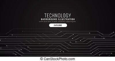 technology circuit lines black digital background design
