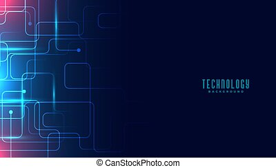 technology circuit lines digital background design