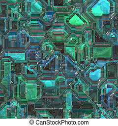 Technology circuitry backgrund - Abstract high tech...