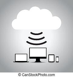 technology cloud background