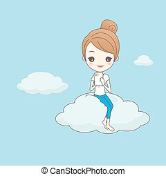 technology cloud computing concept