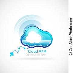 Technology cloud concept. Vector icon