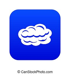 Technology cloud icon blue