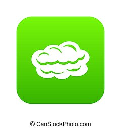 Technology cloud icon green