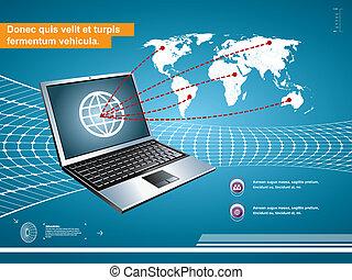 technology communication background
