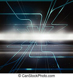 Technology concept abstract background