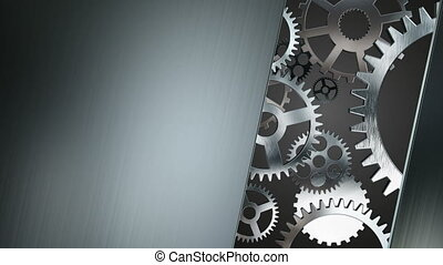 Technology concept with silver gears