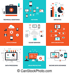 Technology concepts - Flat vector illustration on technical...