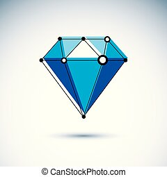 Technology conceptual symbol. Abstract three-dimensional...