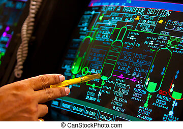 technology - control panel in petrochemical plant