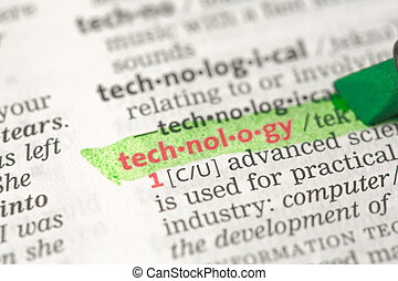 Technology definition highlighted in green