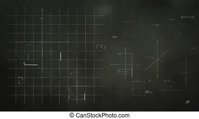 Animation of a blackboard with mobile computing hardware designs being scribbled on.