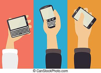 technology design over colors background vector illustration...