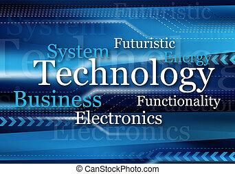 technology design - blue technology design for background