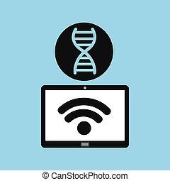 technology device health genetics concept