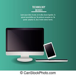 Technology devices icons infographic
