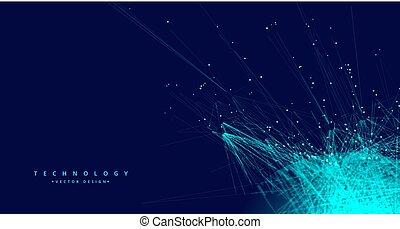 technology digital data mesh network background
