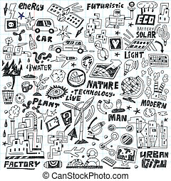 technology - doodles set