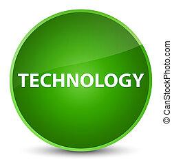 Technology elegant green round button