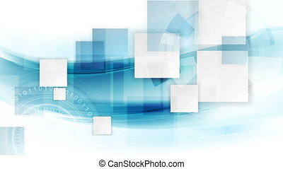 Technology geometric motion background with squares