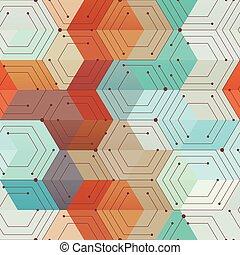 Technology geometric seamless pattern