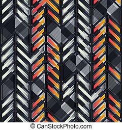 Technology geometric seamless pattern.