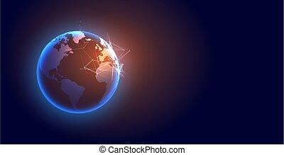 technology global digital earth futuristic background design