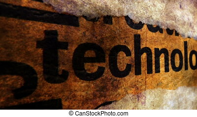 Technology grunge concept
