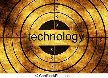 Technology grunge target concept