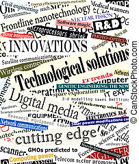 Background illustration of technological headlines