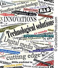 Technology headlines - Background illustration of...